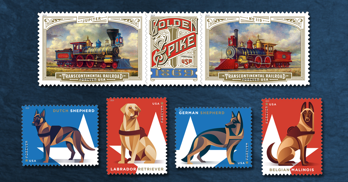 5 Additions to 2019 US Stamp Program